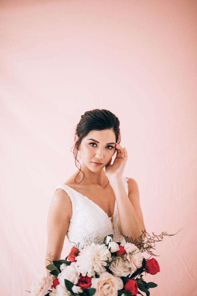 Bridal Glam in Utah with Smokey eyes