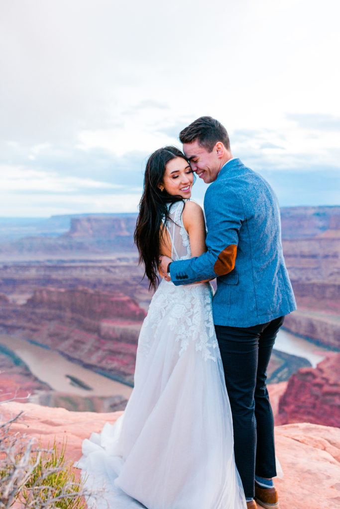 Glam Makeup for Utah Wedding at Dead Horse Point