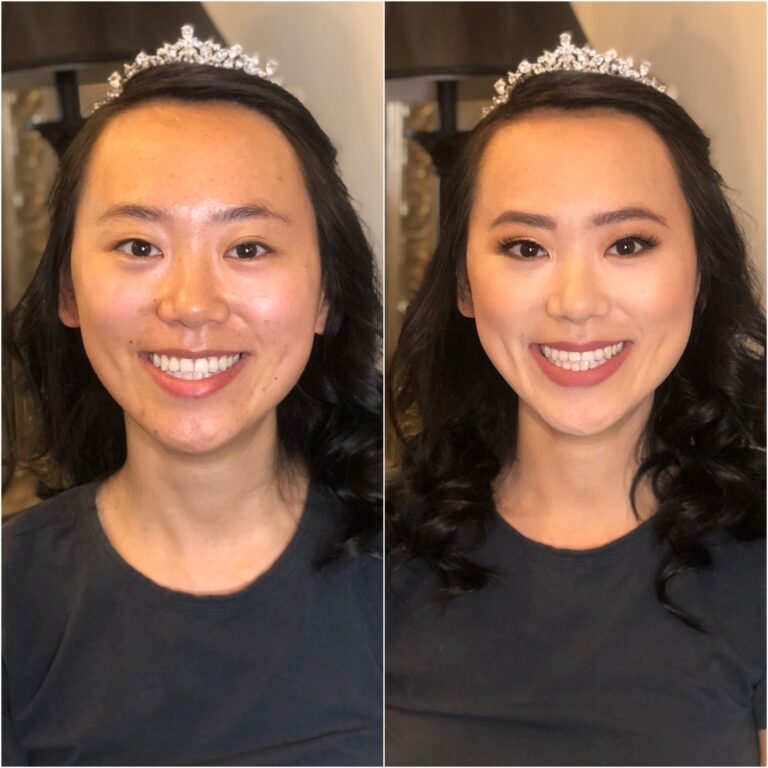 Natural makeup for a bride