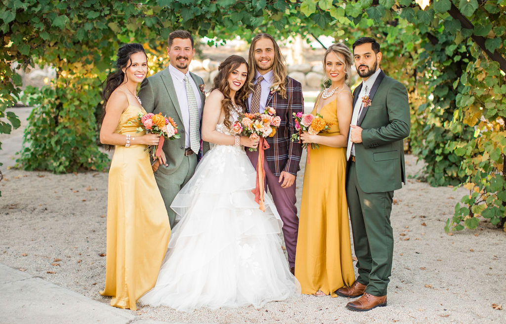 3 couples for a floral wedding