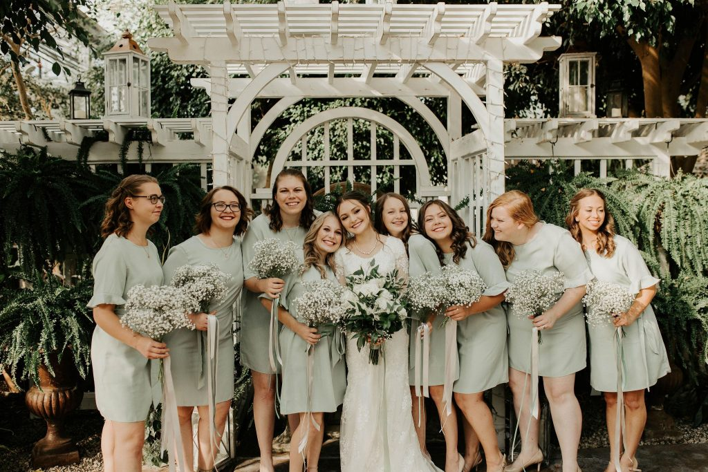 Bridal Party in sage green